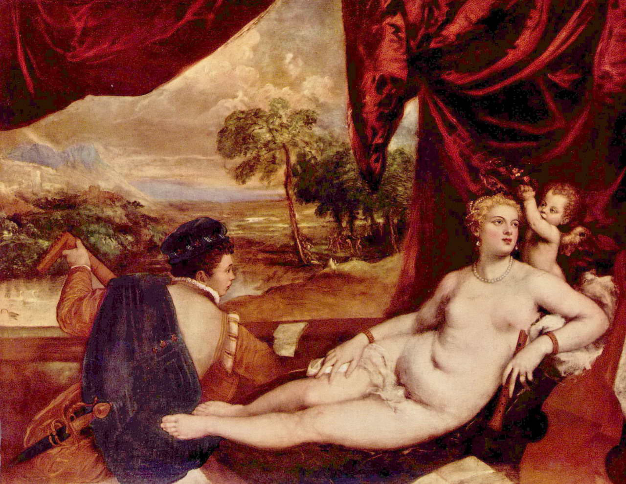 an analysis of the topic of the meaning of hew gaze and the venus of urbino by titian Edouard manet (1832-1883) olympia 1863 oil on canvas such as titian's venus of urbino, goya's maja desnuda, and the theme of the odalisque with her black slave.